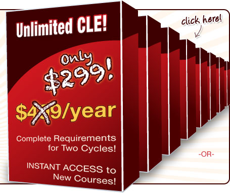 Unlimited CLE for 1 full year