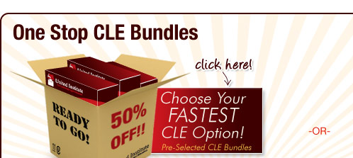 Pre-selected CLE Bundles