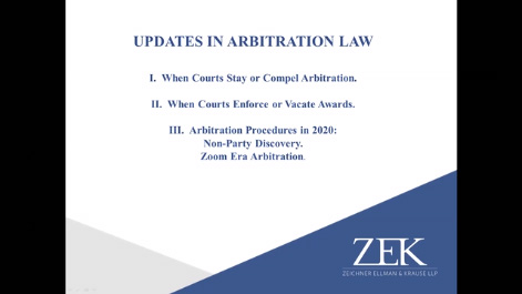 Update in Arbitration Law Thumbnail