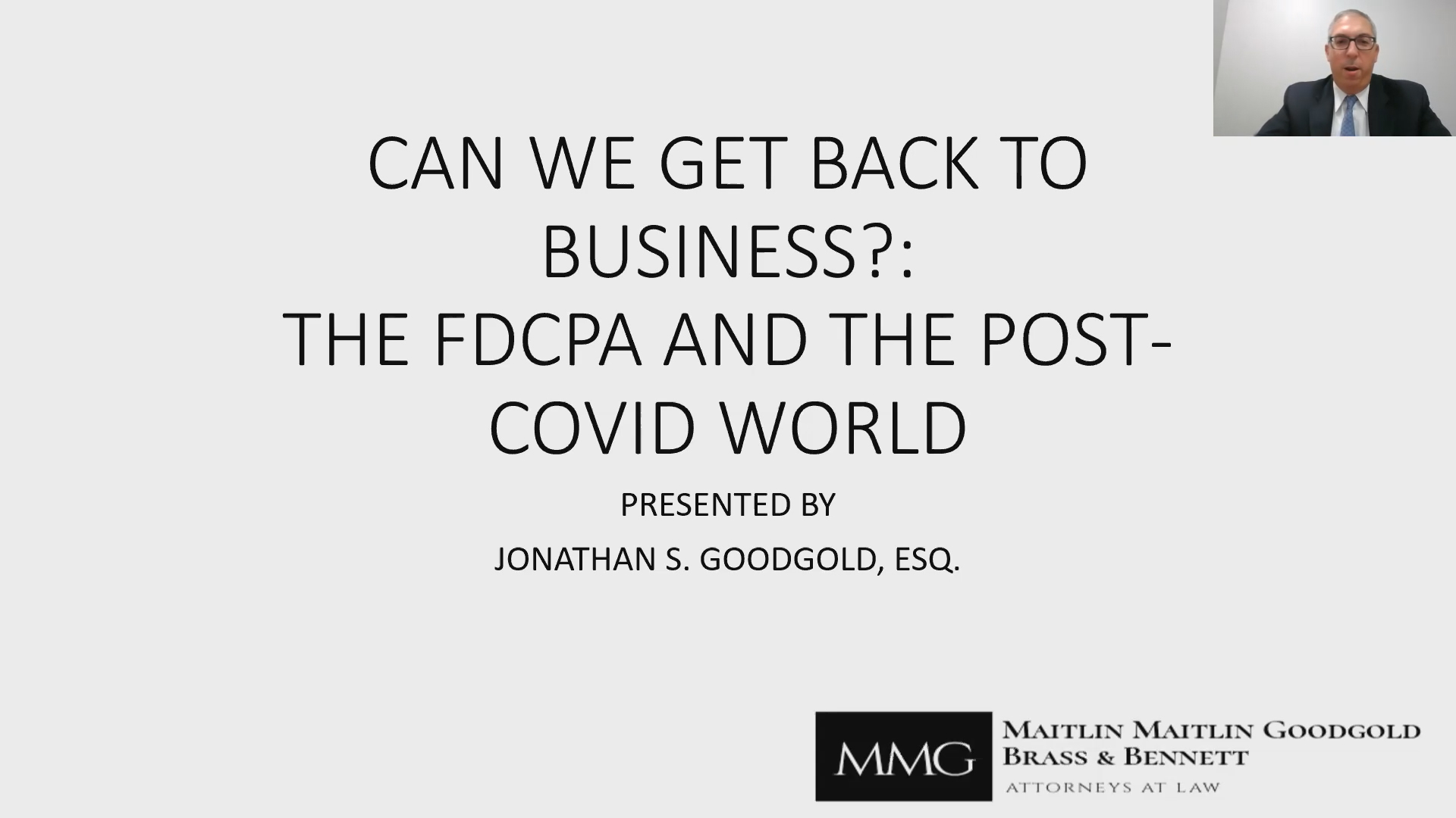 Can We Get Back to Business? The FDCPA and The Post-Covid World Thumbnail