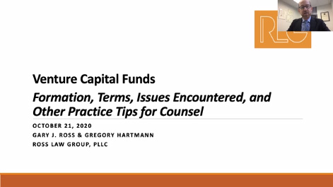 Venture Capital Funds: Formation, Terms, Issues Encountered, and Other Practice Tips for Counsel Thumbnail