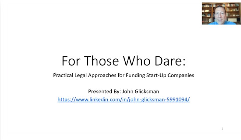 For Those Who Dare: Practical Legal Approaches to Funding Start-Up Companies Thumbnail