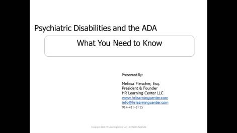 ADA and Psychiatric Disabilities Thumbnail