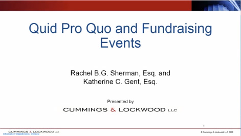 Quid Pro Quo for Charitable Gifts Thumbnail