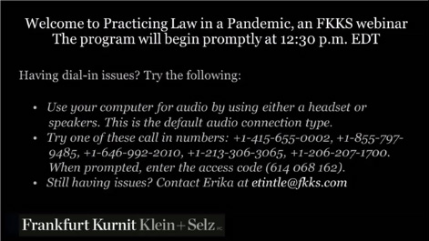 Practicing Law in a Pandemic: Remote Lawyering in the Age of COVID-19 Part I Thumbnail