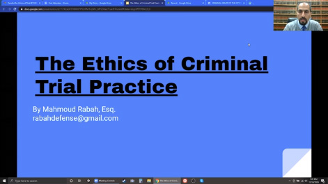 The Ethics of Criminal Trial Practice Thumbnail