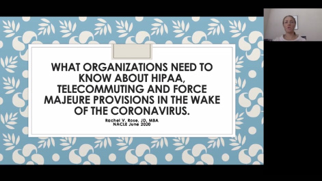 Coronavirus, HIPAA, Telecommuting and Force Majeure: What Every Organization Needs to Know Thumbnail