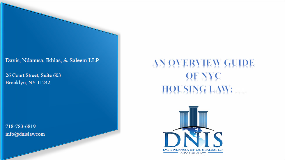 """Dotting """"I""""s and Crossing """"T""""s: An  Overview Guide of NYC Housing Law Thumbnail"""
